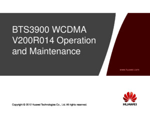 2 OWB101700 BTS3900 WCDMA V200R014 Operation and Maintenancppt