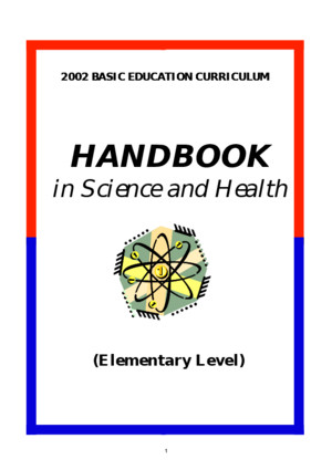 2002 Basic Education Curriculum Handbook Elementary Science Health