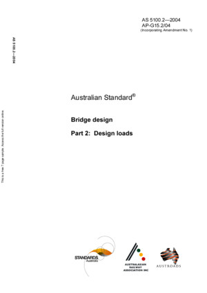 2004, AS51002 Design Loads, Australian Bridge Design Code