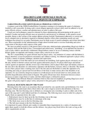 2014-2015 NFHS Football Game Officials Manual Points of Emphasis-1