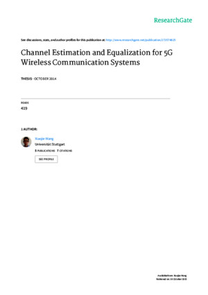 2014 - Channel Estimation and Equalization for 5G Wireless Communication Systems (UFMC)