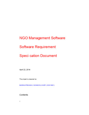219725038 SRS Document NGO Management System
