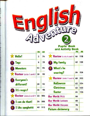 English Adventure 2-Pupils Book and Activity Book