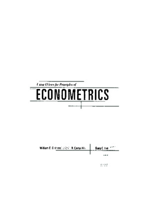 Eviews for Principles of Econometrics