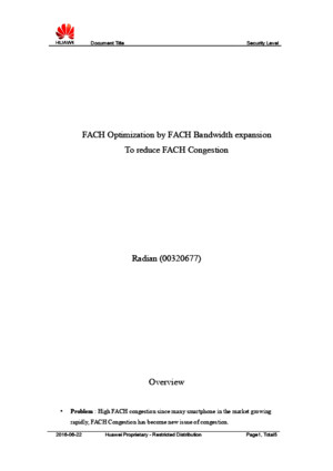 FACH Optimization by FACH Bandwidth Expansion
