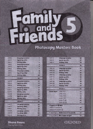 Family and Friends 1 Photocopy Masters Book