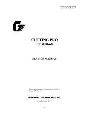 FC3100-60 Service Manual (Rev B)