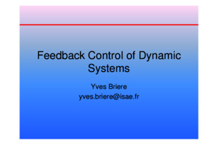 Feedback Control of Dynamic Systems (Third Ed)