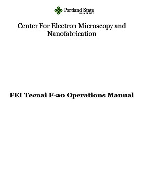 FEI Tecnai f20 Operations Manual