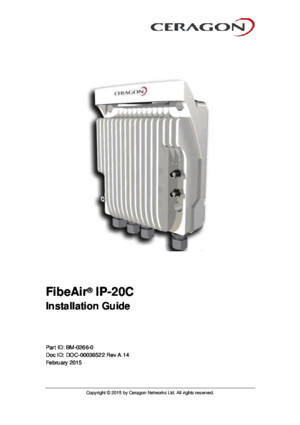 FibeAir IP-20C Installation Guide Rev a14