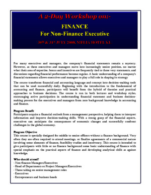 Finance for Non Finance Executive ppt
