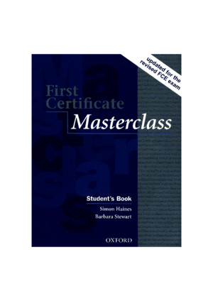 First Certificate Masterclass Students Book