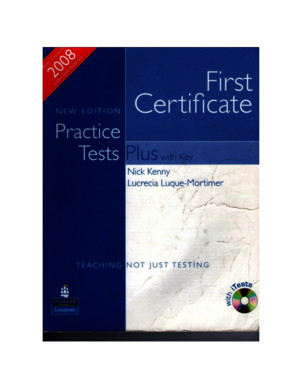 First Certificate Practice Tests Plus - 2008 Edition - Longman