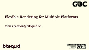 Flexible Rendering Multiple Platforms