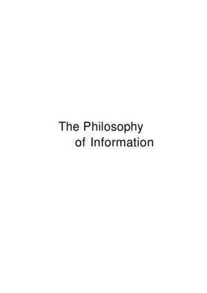 Floridithe Philosophy of Information_ocr