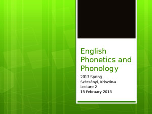 2_exam1_English Phonetics and Phonology phonetics vs phonology_consonantspptx