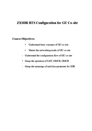 2GU_OC01_E1_0 ZXSDR Configuration for GU Co-Site(V40030) 162