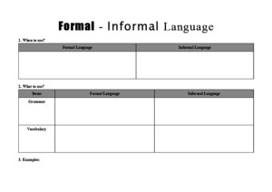 Formal Informal Language