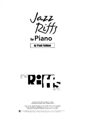 Frank Feldman - Jazz Riffs for Piano