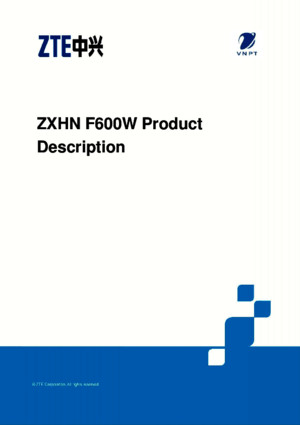 332 ZXHN F600W Product Description