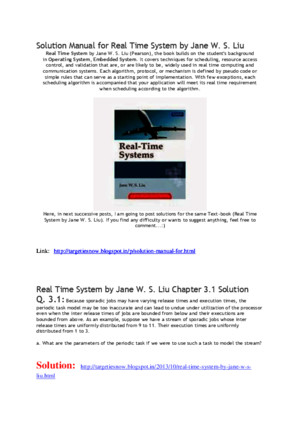 full solution manual real time system by jane w s liu solution manualpdf