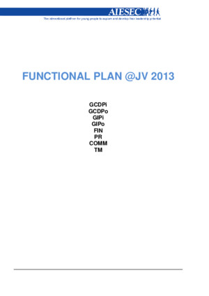 Functional Plan Areas AIESEC Joinville