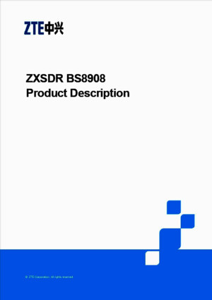 G DER ZXSDR BS8908 Product Description(V10R1) V100 20100708