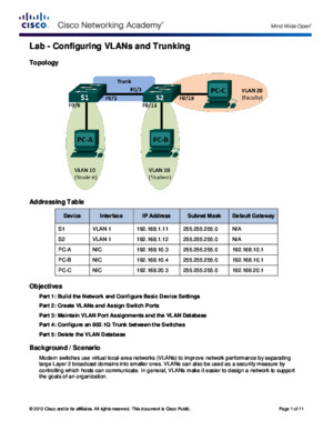 3 - Lab - Configuring VLANs and Trunking