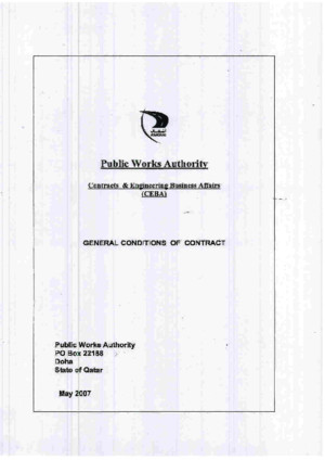 General Conditions of Contract 2007 (Ashghal)