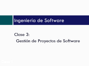 GEstion Proyectos Software