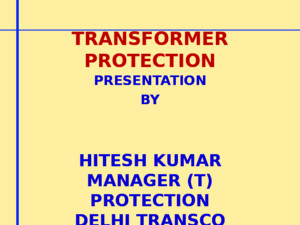 3 Power Transformer Protection by HK Rajputppt