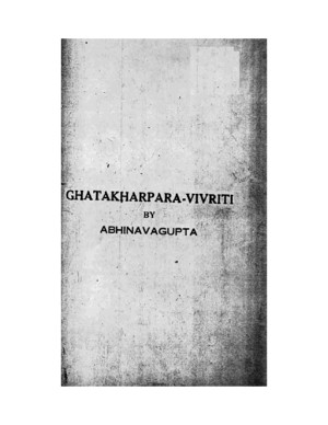 Ghatakarpara Kavya of Kalidasa With the Commentary of Abhinavagupta (KSTS 67)