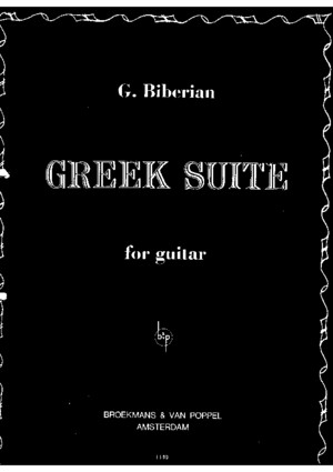 Gilbert Biberian - Greek Suite for guitarpdf