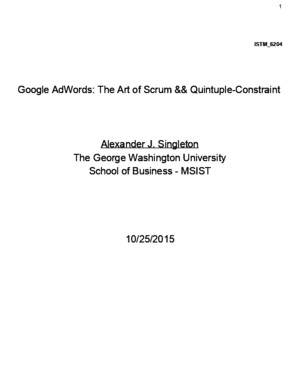 Google AdWords: The Art of Scrum Quintuple-Constraint