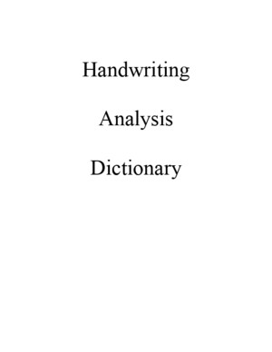 Graphology (Full Dictionary)