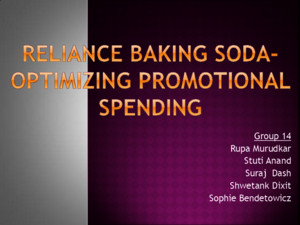 Group14_Reliance Baking Soda
