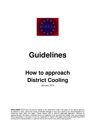 Guidelines District Cooling