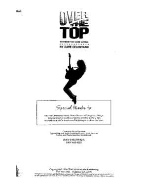 Guitar Book - Dave Celentano - Over the Top - Advanced Two Hand Tapping