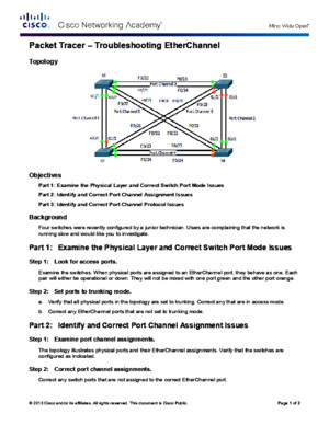 3223 Packet Tracer - Troubleshooting EtherChannel Instructions (1)