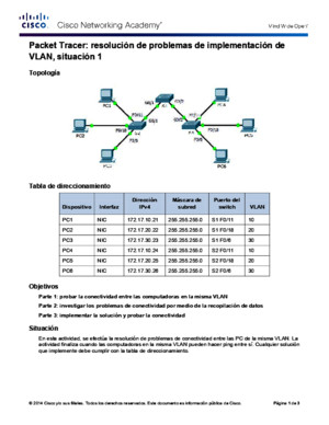 3247 Packet Tracer - Troubleshooting a VLAN Implementation - Scenario 1 Instructions
