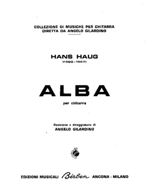 Haug- Complete Works for Guitar