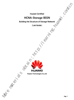 HCNA-Storage Building the Structureof Storage Network Lab Guide V21