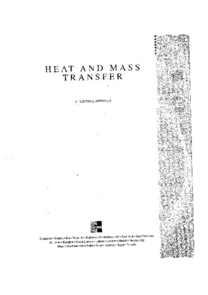 Heat and Mass Transfer SI Units a Practical Approach 3rd Edition