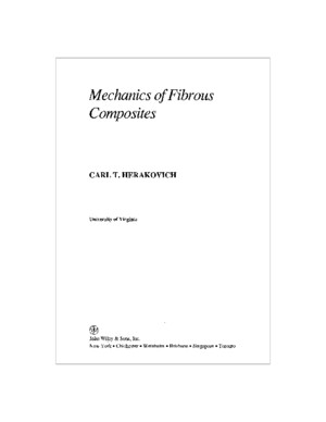 Herakovich Mechanics of Fibrous Composites