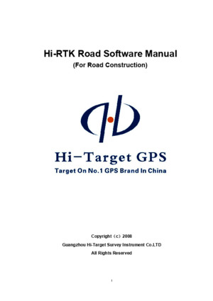 Hi-RTK Road Operation Manual
