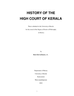 History of the High Court of Kerala by Harikrishnan S