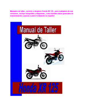 Honda Xr 650 l Manual de taller