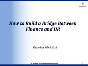 How to Build a Bridge Between Finance and HR