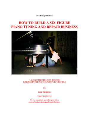 How to build a six-figure piano tuning repair business