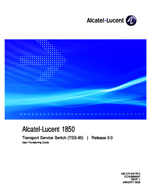 365372601R20_V1_1850 Transport Service Switch (TSS-60) Release 20 User Provisioning Guide